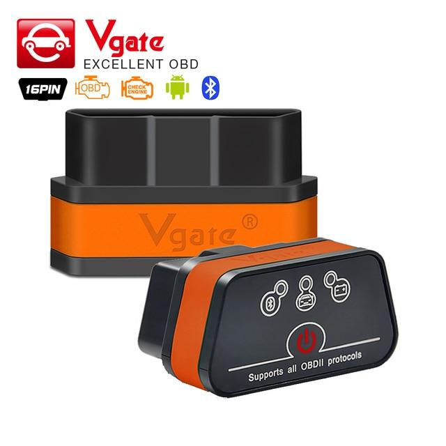 Vgate iCar2 ELM327 Bluetooth OBD 2 Scanner iCar 2 wifi mini elm 327 obd2 adattatore Diagnostico-strumento per android/PC/IOS lettore di codice