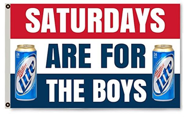 Saturdays are for the boys Blue banner Lite Flag 3X5ft