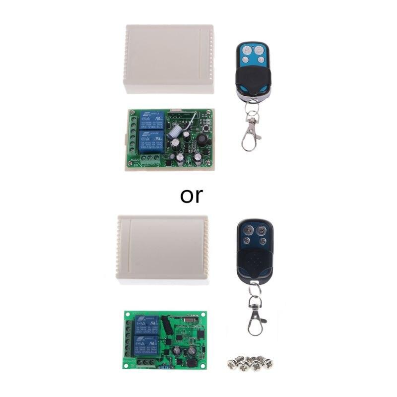 433 MHz Universal Wireless Remote Control Switch AC 85V-250V 110V 220V 2CH Relay Receiver Module