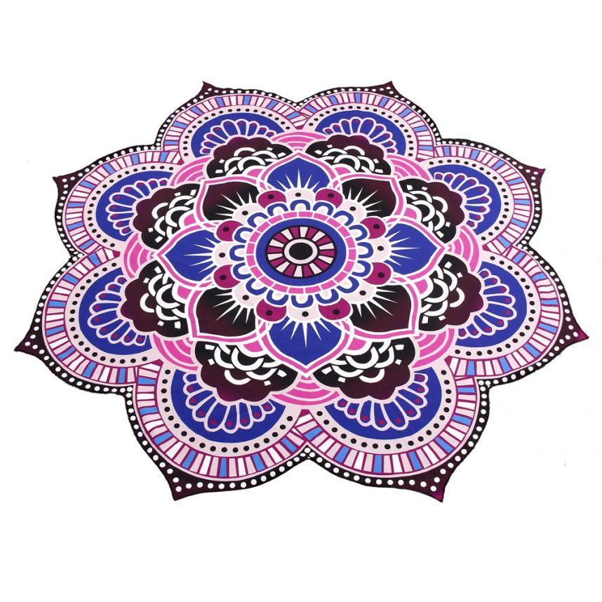 Womens fashion Plant New Classical/Post-modern Mandala Towel Yoga Mat Bohemian Beach Pool Home Table Cloth Yoga Mat m24
