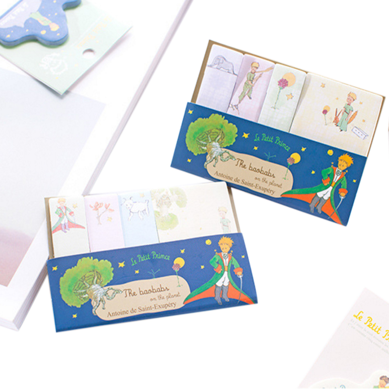 1pack/lot Korean Little Prince Index Label N Times Memo Pad Sticky Paper Message Notepad Office Student School Family Supplies