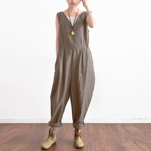 1f648805abc Fashion ZANZEA Women Striped Jumpsuits Summer Elegant V Neck Sleeveless  Loose Work Office Rompers Casual Party