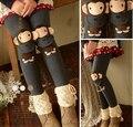 Lolita Mori Menina do Estilo Japonês Encantador Macaco Elasticidade Leggings Calças Frete Grátis