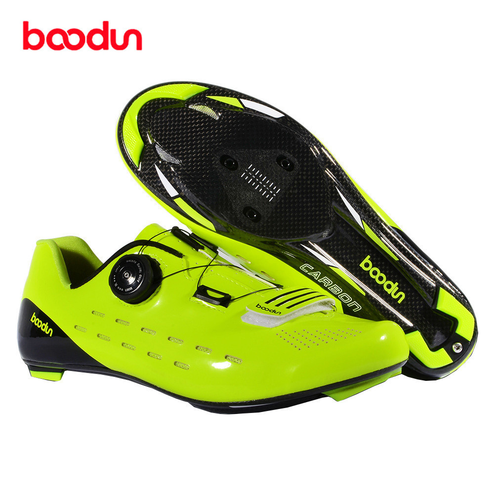 Boodun Carbon Fiber Road Cycling Shoes For Bicycles Zapatilla Mtb Hombre Sapatilha Ciclismo Chaussure Vtt Fahrradschuhe