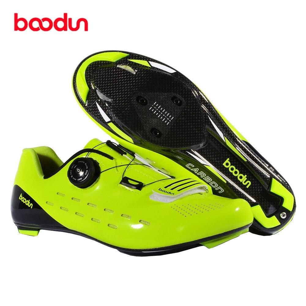 Boodun En Fiber De Carbone de Cyclisme Sur Route Chaussures Pour Vélos Zapatilla Vtt Hombre Sapatilha Ciclismo Chaussure Vtt Fahrradschuhe