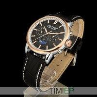 Bom Caso Relógio de Ouro de Luxo Homens de Quartzo Preto Dos Homens Do Esporte Relógios À Prova D' Água
