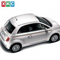 Car Styling Italian Flag Color Waist Car Stickers For FIAT 500C Bravo Palio Viaggio