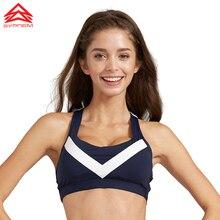 SYPREM New sportswear Yoga pilates Sports Bras vest underwear Women Running Fitness Shockproof padded Push Up sports bra,1FT0842