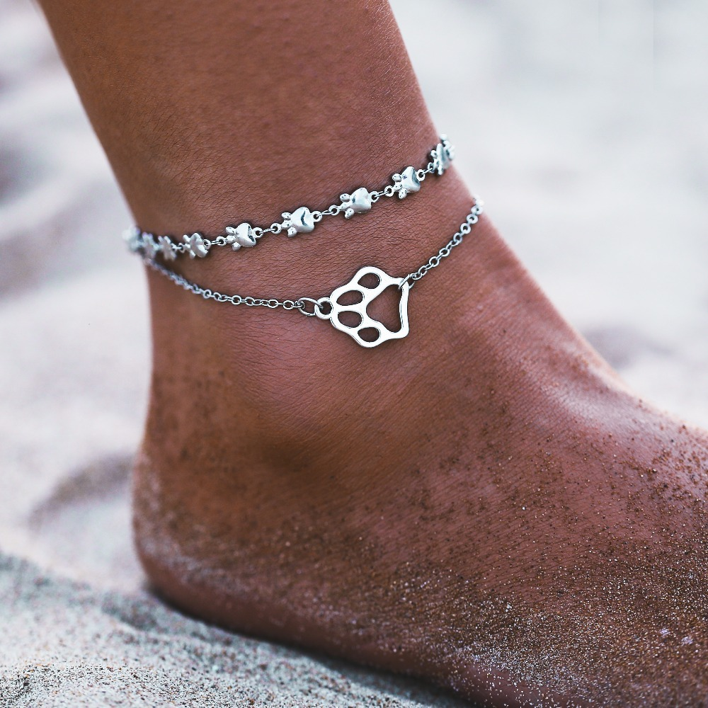 IF ME BOHO Multilayers Animal Anklets for Women Vintage Silver Color Turtle Shell Beach Ankle Bracelet on Foot Fashion Jewelry 1