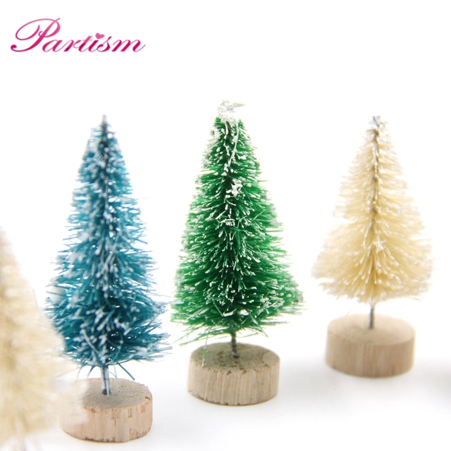 15pcs Christmas Tree 3colors Diy Small Pine Tree Mini Trees Placed