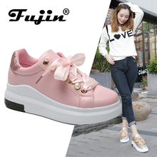 Fujin Platform Sneakers 2019 new Spring Summer Designer Wedges Women Vulcanize Shoes Tenis Feminino Female Casual Shoes цена в Москве и Питере