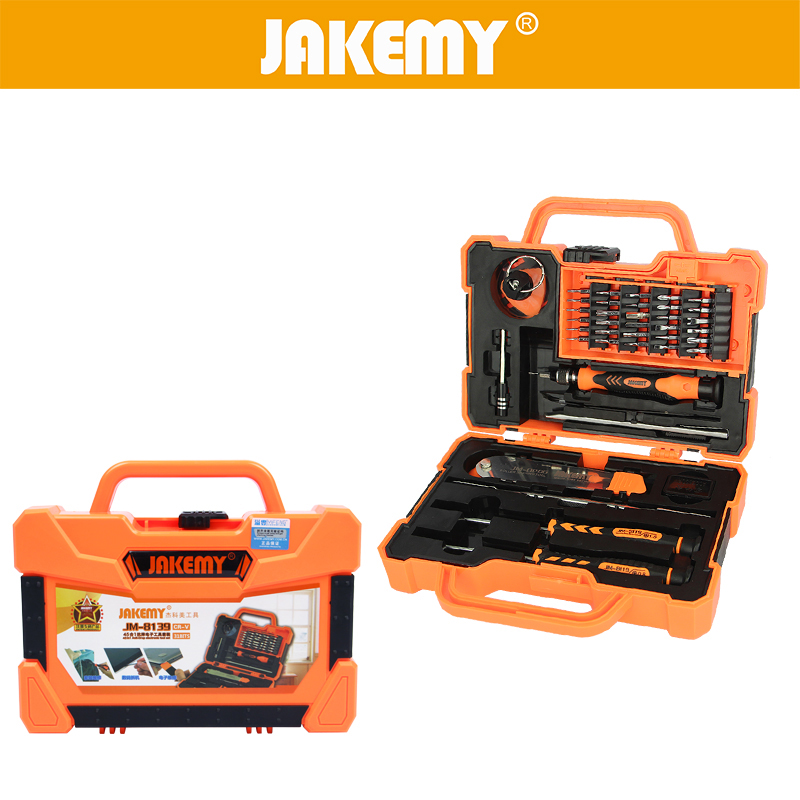 JAKEMY 45 in 1 Professional Electronic Precision Screwdriver Set Hand Tool Box Set Opening Tools for iPhone PC Repair Tools Kit 29 in 1 professional screwdriver set precise hand repair kit opening tools electronic maintenance toolkit 90029