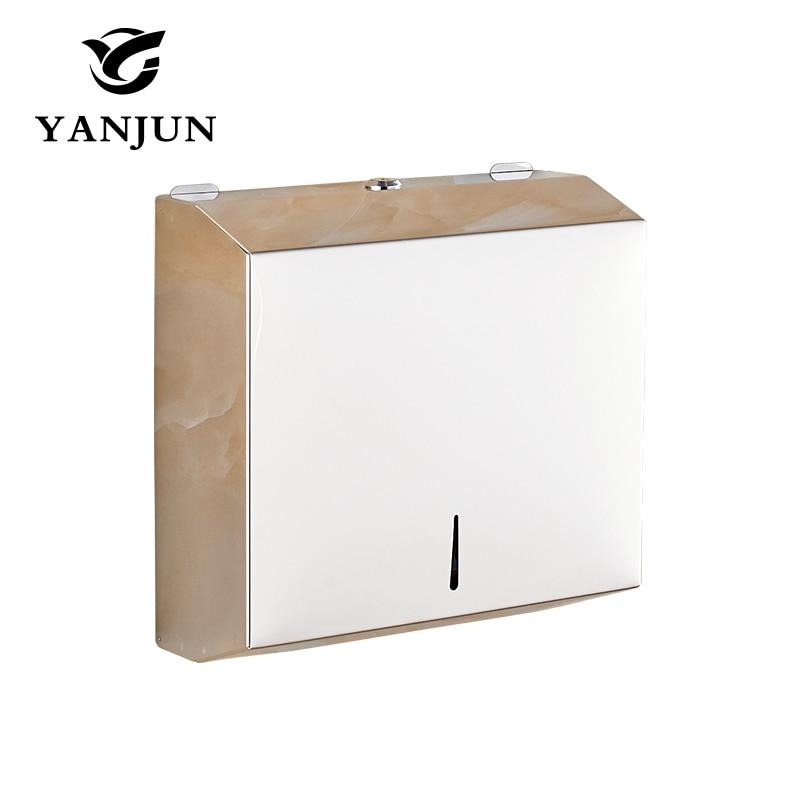 Yanjun Wall Mount Stainless Steel Single Fold Multi Fold  C-Fold Tissue D Paper Towel Dispenser Polish Finished  YJ-8671