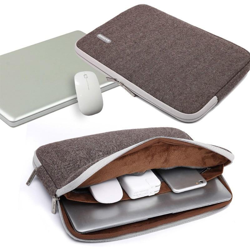 Waterproof Laptop Sleeve 11 13.3 14 15.6 17 Inch Cotton Fabric Notebook Liner  Sleeve Case Cover Herringbone Laptop Bag