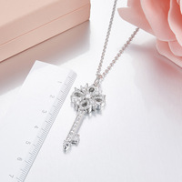 ZOZIRI new classic small Key Necklace Pendant fashion Women summer Jewelry gold Rose Gold Silver Color