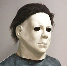 Top Grade 100% Latex Horror Movie Halloween Michael Myers Mask, Adult Party Masquerade Cosplay Mask Full Head