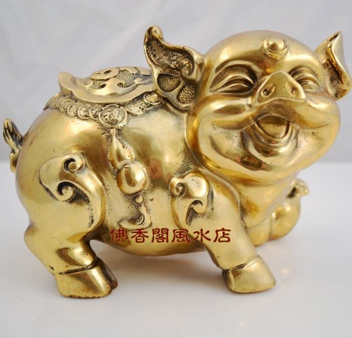 Свинья медная Золотая Тыква свинья домашняя мебель фэн шуй украшения подарок украшения
