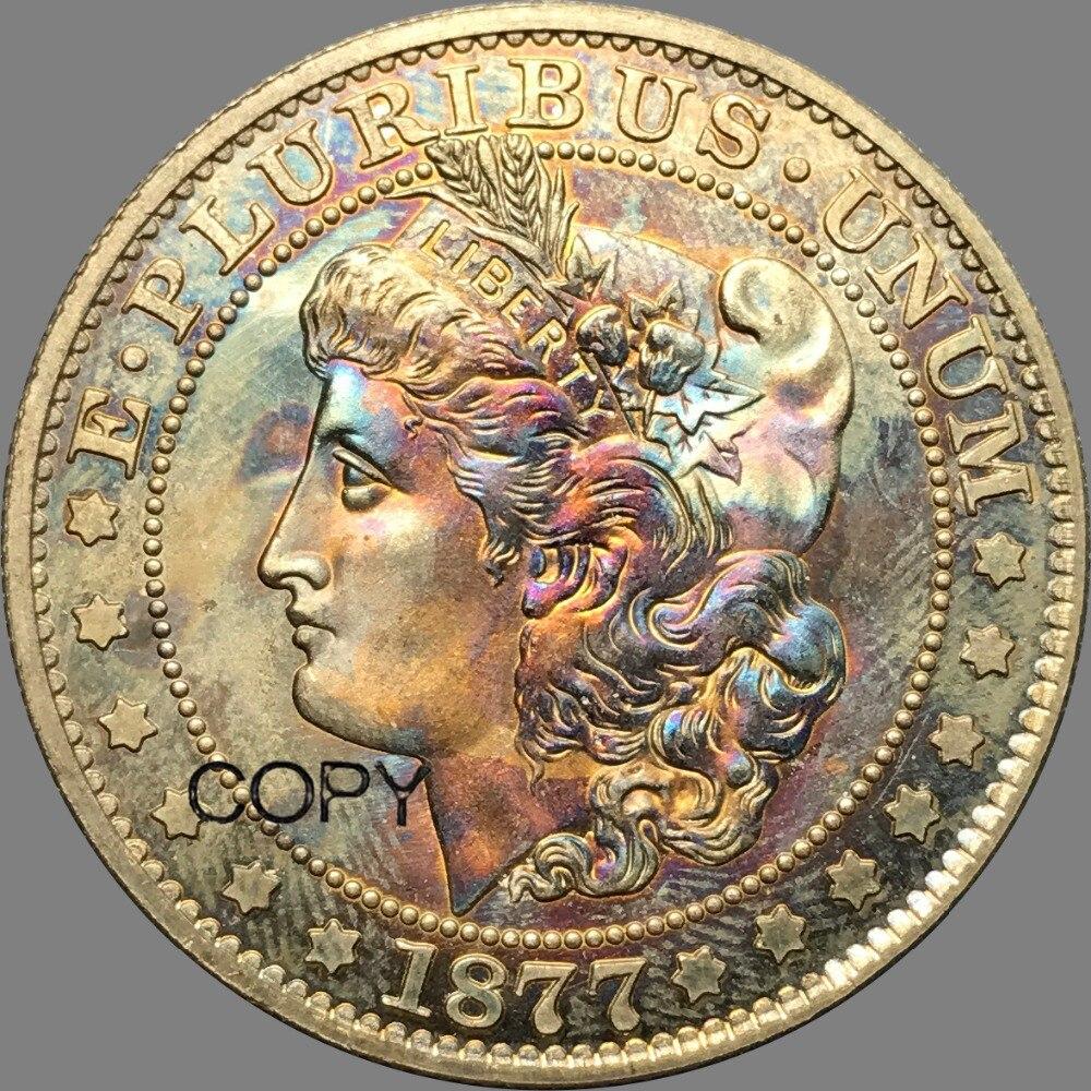 Estados unidos da América 1877 Half Dollar Morgan Copiar Moedas de Bronze de Prata Banhado A Réplica