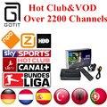 Mag250 IPTV Linux CAIXA de IPTV 2200 Canais + Holanda Turco Alemão Espanha Portaguese Albanesa Clube & VOD IPTV Adulto Quente