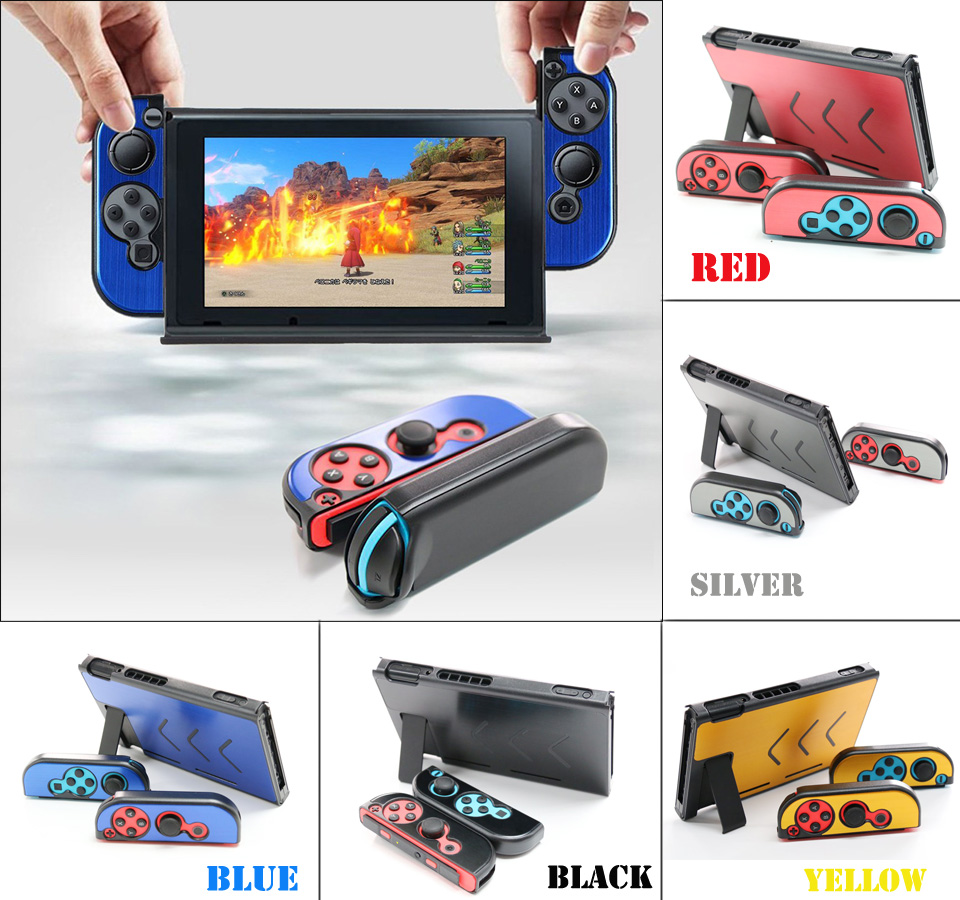 Nintend Accessories 5 Colors Hard Metal Nintend Console Case Shockproof Protective Cover for Nintend Switch NS Console Joy-con