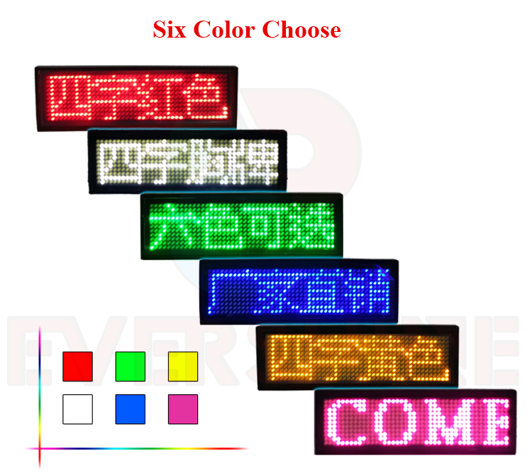 Scrolling Led-Display-Panel Green Optional Yellow Blue Red White HD-NT48 Name-Sign Led-Badge