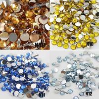 5000pcs 6mm Pretty Fashion 14 Facets Resin Rhinestone Flatback Acrylic Gems Crystal