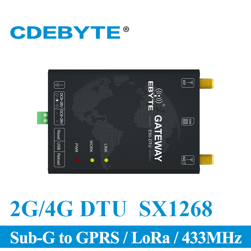 E90 DTU(400SL30 GPRS) 433MHz GPRS 1W LoRa SX1268 USB Interface Wireless Data Transmission Modem Sub G to GPRS Receiver Module-in Fixed Wireless Terminals from Cellphones & Telecommunications