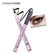 2 шт. yanqina длительный Подводка для глаз Quick-Dry черный, розовый Коллекция Водонепроницаемый жидкости