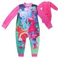 Trolls Jumpsuits Girls Clothing Long Sleeves 3-11 T Rompers Zipper Tracksuit Girls Pajamas Kids Children's Sleepwear Nightgown