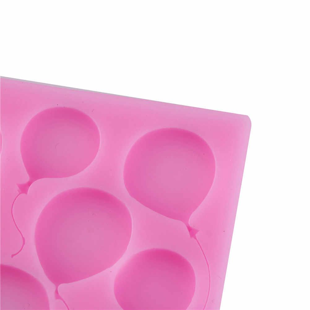1 Pcs Ballon Vorm Siliconen Cakevormen Zeep Chocolade Silicone Fondant Cake Versieren Groothandel 10x10cm
