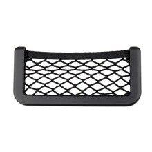 Cor preta 150x80mm Mini Suporte Do Telefone Universal Lado Do Assento de Carro de Volta Saco De Armazenamento Net Bolso Organizador Nova chegada