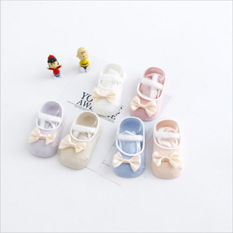 Baby Cute Anti-slip Foot Socks 2Pairs/Set Random Color