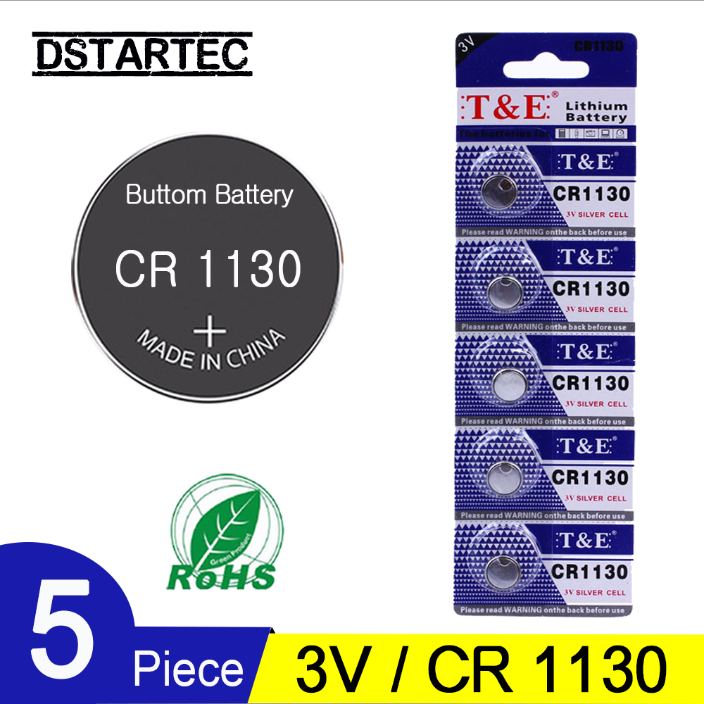 5PCS CR1130 3V Lithium Button Battery BR1025 LM1130 DL1130 CR 1130 Coin Cell Batteries For Watch Remote Toys; 30mAh Battery