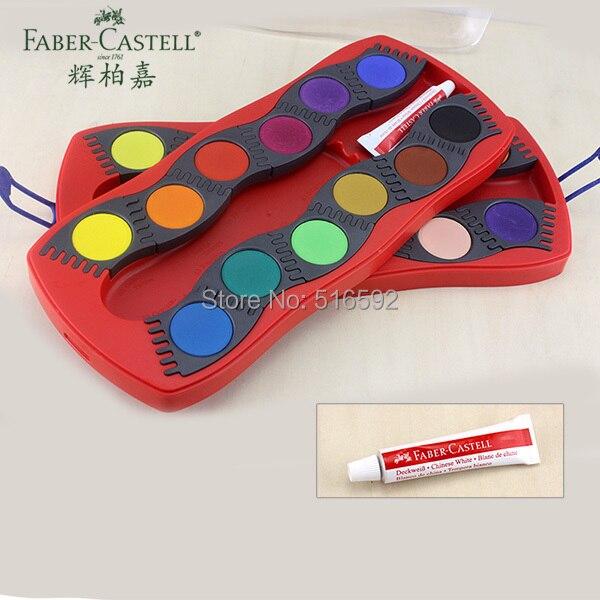 все цены на Faber-Castell 24 colorus connector watercolour paint box, creative solid watercolor for children, combination paint tablets