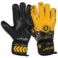 Men women kids professional goalkeeper gloves sports football thicken 5 finger save protect guard goalie soccer gloves 4mm latex