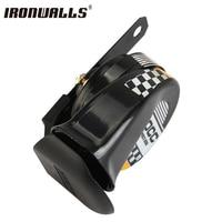 12V 510Hz Black Motorcycle Horn Scooter Go Kart Dirt Bike Car Loud Voice Speaker Horn Mini