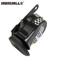 Ironwalls 12V 510Hz Motorcycle Horn Scooter Go-Kart Dirt Bike Car Loud Voice Speaker Horn Mini Loud Electronic Snail Racing Horn