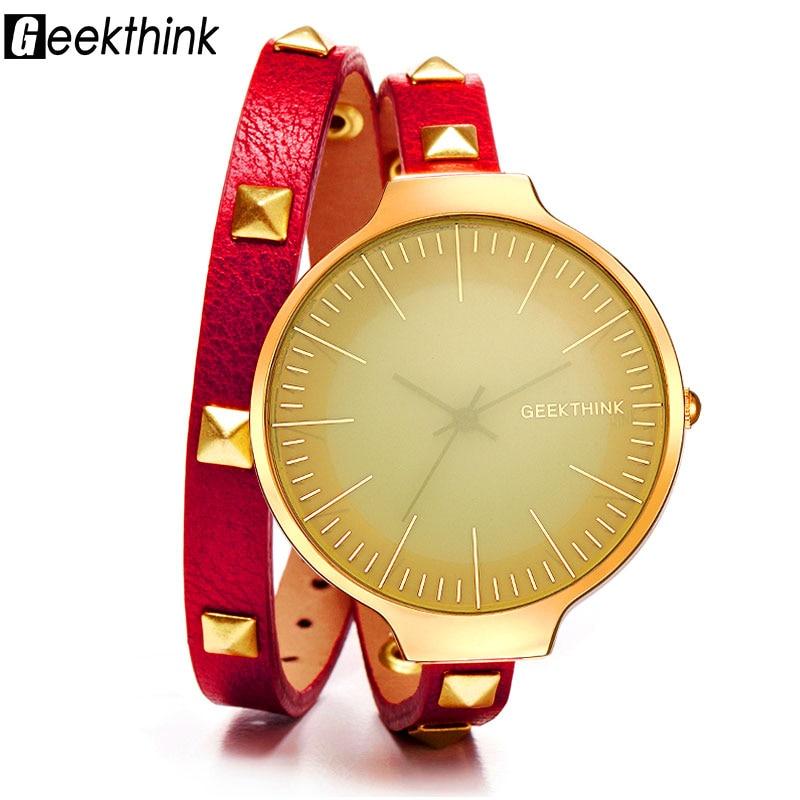 GEEKTHINK Top Merek Fashion Mewah Kuarsa Menonton Wanita wanita Retro - Jam tangan wanita