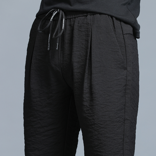 Jantour 2019 Spring Summer New thin Casual Pants Men Cotton Slim Fit Chinos Fashion Black Trousers Male Brand Clothing Plus Size 42