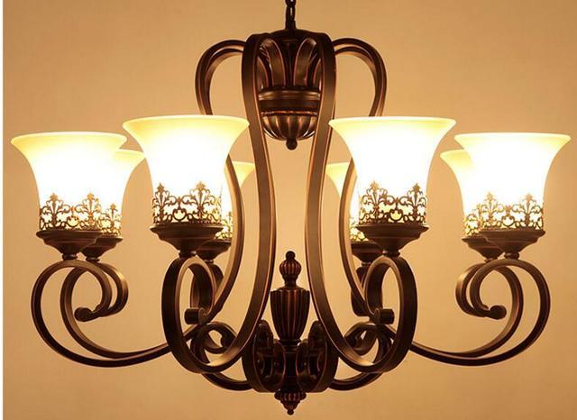 Kronleuchter Eisen ~ Amerikanischer kronleuchter. eisen lampe. antike beleuchtung in