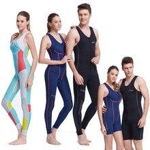 Women Long or Shorty Pants Wet Suit 1.5mm Premium Neoprene Wetsuit John for Men   One-piece Farmer John Style 1mm Sleeveless