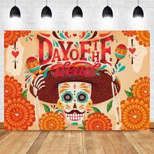 NeoBack Day of The Dead Photography Backdrops Mexicos Skull  Skeleton Event Banner Backgrund Studio Shoots
