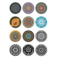 10mm 12mm 14mm 16mm 20mm 25mm 406 12pcs/lot Flower Mix Round Glass Cabochon Jewelry Finding 18mm Snap Button Charm Bracelet