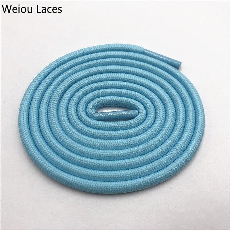Weiou 0,5 см круглые спортивные шнурки из полиэстера толстые походные шнурки одежда веревка для скалолазания шнурки для ботинок Детские мужские - Цвет: 2716Light blue
