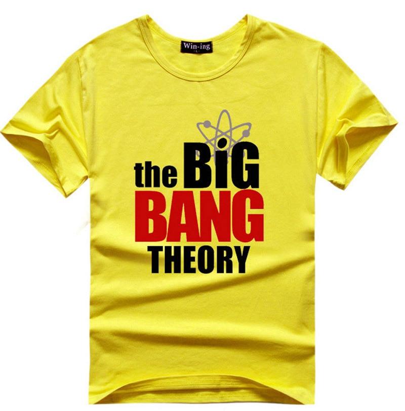 The Big Bang Theory Fans T Shirt Logo Men T Shirts Sheldon