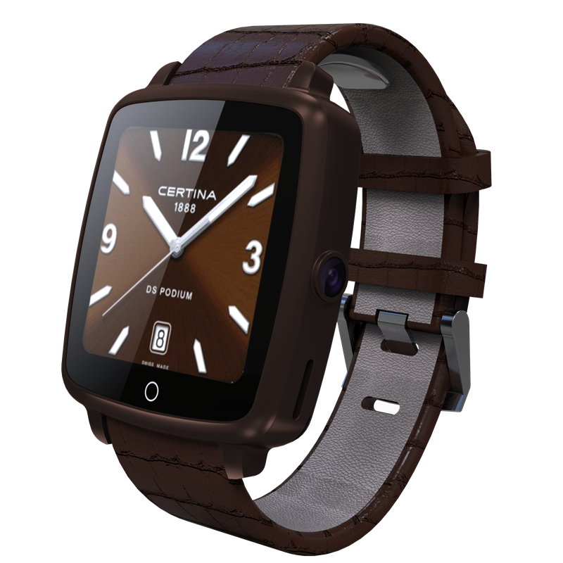 2016 Leather Wristband font b SmartWatch b font Bluetooth U11C Smart Watch VideoSupport SIM GSM Video