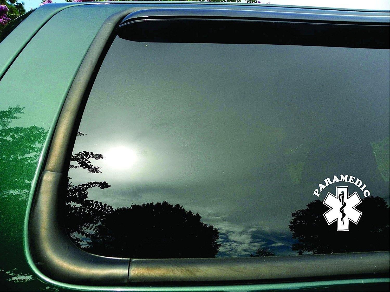Paramedic Symbol- Die Cut Vinyl Window Decal/sticker 9x9cm