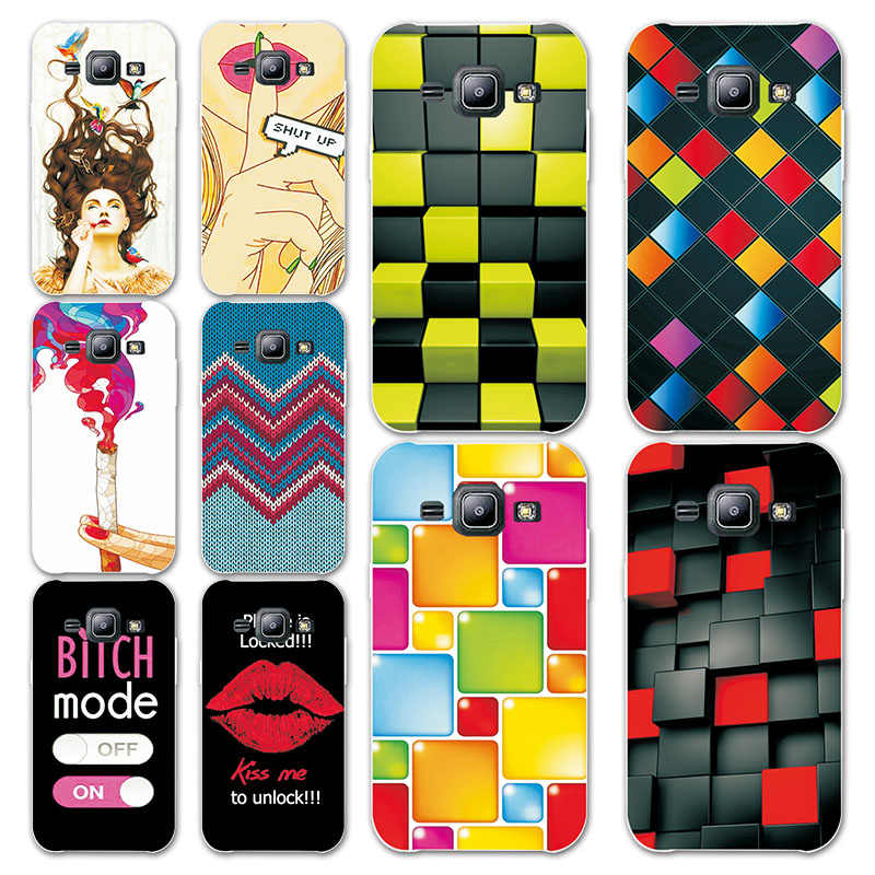New Rainbow Grid style Painted Cases For Samsung Galaxy J2 Prime Hard  Plastic Back Cover For Samsung J2 Prime Coque+ free pen
