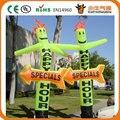 Бесплатная доставка футов 5.5 м 45 см трубки дешевые индивидуальные надувной воздушный танцор неба для продажи