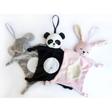 Newborn Plush Soothing Towel Toys Animal Shape Infant Baby Gift Soft Soothe Educational Blankie For Care